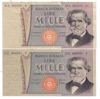 ITALIA 1000 Lire Cerdi II° Tipo 1969 + 1977  LOTTO 955a - [ 2] 1946-… : Repubblica