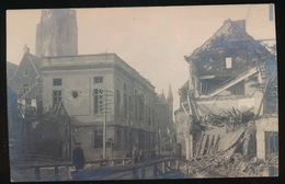 FOTOKAART - VERWOESTING OUDENAARDE - Oorlog 1914-18