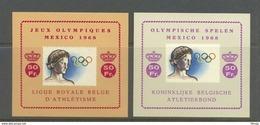 E 103/104 OLYMPISCHE SPELEN  POSTFRIS** 1968 - Erinnophilie