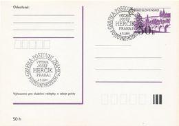 I0258 - Tschechoslowakei (1991) Praha 1: Grafik Und Briefmarke (Josef Hercik) Die Ausstellung Im Postmuseum - Post
