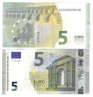 5 €  ITALIA DRAGHI  FDS UNC DA MAZZETTA Soudoyer SC  S001B4 Cod.€.107 - EURO