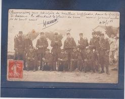 SISSONNE  (  02 )  CARTE PHOTO D' Un Bataillon Militaire Avec Un Tirailleur Malgache ( Texte ) - Guerre 1914-18