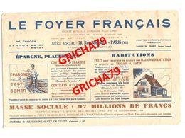 BUVARD - BANQUE LE FOYER FRANCAIS PARIS - Bank & Insurance
