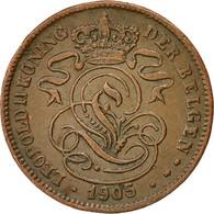 Belgique, 2 Centimes, 1905, TTB+, Cuivre, KM:36 - 1865-1909: Leopold II