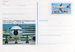 Deutsche Bundespost NAPOSTA '89 Europa CEPT Postcard Mint Airport Frankfurt Am Main - Europa-CEPT