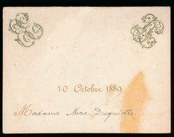 MENU ADEL NOBLESSE 1889 MAD.MAX.DUGNIOLLE  - 2 SCANS - Menus