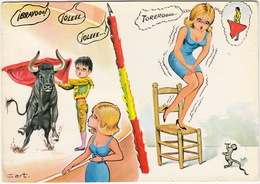 Vacaciones - Valentia En El Ruedo - Valeur Dans L'arène - Valour Into Bull-fight  - (Espana/Spain) - Corrida