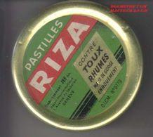 """PASTILLES """" RIZA"""" - ANCIENNE BOITE EN METAL - V/IMAGE ET DIMENTION - Matériel Médical & Dentaire"""