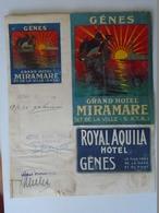 X138.18 Italia  - Genova Hotel Miramare -Hotel Royal Aquila   -signatures,  Autograph  1933 - Autografi