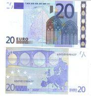 20 €  ITALIA FDS UNC J001F1 Duisenberg Cod.€.041 - 20 Euro