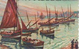 Fishing Boats -  Port - Mahon??   France. S-4167 - Fishing Boats