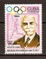 1984 - 90e Anniversaire Du C.I.O - Pierre De Coubertin - N°2557 - Cuba