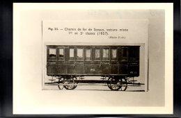PHOTO - Chemin De Fer 121 - Editeur Photo P.O. - Chemin De Fer De Sceaux, Voiture Mixte 1re Et 2e Classe (1857 - Trains