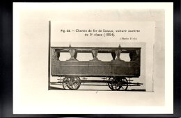 PHOTO - Chemin De Fer 121 - Editeur Photo P.O. - Chemin De Fer De Sceaux, Voiture Ouverte De 3e Classe (1854) - Trains