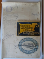 X138.1 Italia  - Grand Hotel Santa Margherita E Metropole -Grand Hotel Lido - -signatures,  Autograph  1933 - Autografi