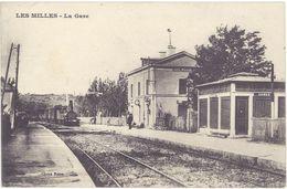 Cpa 13 – Les Milles – La Gare ( Train ) - France