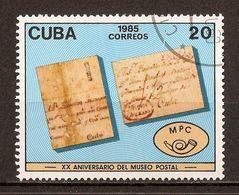 1985 - 20e Anniversaire Musée De La Poste  - N°2592 - Cuba