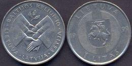 Lithuania 1 Litas  1999 XF  - Baltic Way - Lithuania