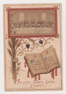 Image Pieuse Souvenir Première Communion Eglise Paroissiale De Belair Je Crois, J'adore, J'aime, J'espère En 1901 - Religion & Esotericism