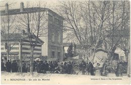 Cpa 13 – 13 – Rognonas – Un Coin Du Marché - France