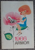 Petit Calendrier De Poche Armor 1966 - Calendars