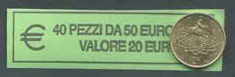 ITALIA  2016 - RARO ROLL 50 CENT  ORIGINALE ZECCA - DATA VISIBILE - FDC - Rollos