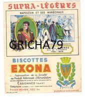 BUVARD  - BISCOTTES EXONA - NAPOLEON ET SES MARECHAUX - MARECHAL LANNES DUC DE MONTEBELLO - CORBEIL ESSONNES - Zwieback