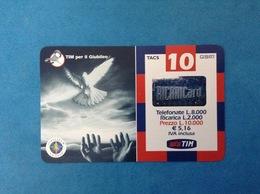 ITALIA SCHEDA TELEFONICA RICARICARD TIM USATA USED PHONE CARD - GIUBILEO COLOMBA 10.000 LIRE SCAD. SET 2002 - Italy