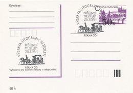 I0261 - Tschechoslowakei (1991) Praha 015: Postmuseum, Lithographieausstellung Des 19. Jahrhunderts - Post