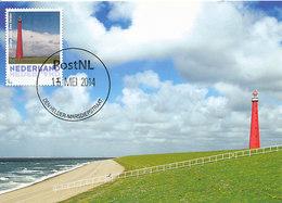 D32354 CARTE MAXIMUM CARD 2014 NETHERLANDS - DEN HELDER PHARE VUURTOREN LIGHTHOUSE CP ORIGINAL - Lighthouses