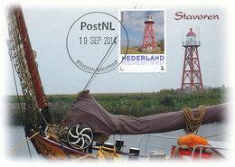 D32355 CARTE MAXIMUM CARD 2014 NETHERLANDS - STAVOREN PHARE VUURTOREN LIGHTHOUSE CP ORIGINAL - Lighthouses
