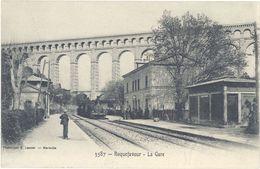 Cpa 13 – Roquefavour – La Gare  ( Train ) - Roquefavour