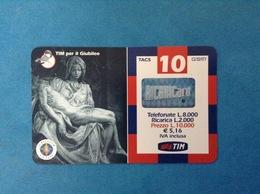 ITALIA SCHEDA TELEFONICA RICARICARD TIM USATA USED PHONE CARD - GIUBILEO PIETA' 10.000 LIRE SCAD. APR 2002 - Italy