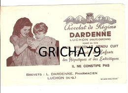 BUVARD  - CHOCOLAT DARDENNE LUCHON HAUTE GARONNE - Cocoa & Chocolat