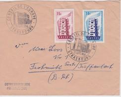 FRANCE 1956 LETTRE DE STRASBOURG CACHET CONSEIL DE L'EUROPE - France