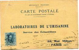 ESPAGNE CARTE POSTALE BON POUR UN FLACON ECHANTILLON D'URISANINE DEPART MADRID 6 NOV 2? POUR LA FRANCE - Cartas