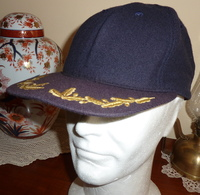 Cappello Baseball US Navy Ufficiale Superiore Bancroft Originale - Usato Anni 90 - USN Officers' Cap - Used - Headpieces, Headdresses