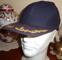 Cappello Baseball US Navy Ufficiale Superiore Bancroft Originale - Usato Anni 90 - USN Officers' Cap - Used - Copricapi