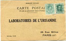 ESPAGNE CARTE POSTALE BON POUR UN FLACON ECHANTILLON D'URISANINE DEPART SAN NICOLAS 11 III 25 POUR LA FRANCE - Cartas