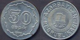 Azerbaijan 50 Qapik 1992 AUNC Copper-Nickel - Azerbaïjan