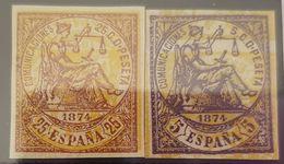 España N° 144 Y 147. Maculatura. - 1872-73 Kingdom: Amadeo I
