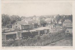 Cpa 23 – La Courtine – La Gare Et L'Avenue Du Camp ( Train, Wagons ) - La Courtine