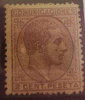 España N° 190. Con Charnela. - 1875-1882 Kingdom: Alphonse XII