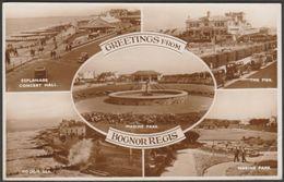 Multiview, Greetings From Bognor Regis, Sussex, C.1940s - Shoesmith & Etheridge RP Postcard - Bognor Regis