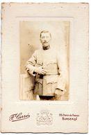 Photo Militaire  58 Sur La Vareuse Photographe  F. Carre Bordeaux    Format 11 X  16. Cm 11143 - War, Military