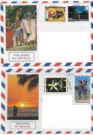 1992 Polynésie Française N° 308 350 367 373A  Obli (2 Lettres)  . Poupée , Vanille , Paréo . - Polynésie Française