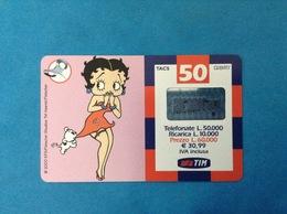 ITALIA SCHEDA TELEFONICA RICARICARD TIM USATA USED PHONE CARD - BETTY BOOP 50.000 LIRE 28-O SCAD. SETTEMBRE 2003 - Italy