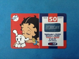 ITALIA SCHEDA TELEFONICA RICARICARD TIM USATA USED PHONE CARD - BETTY BOOP 50.000 LIRE 30M SCAD. DIC 2002 - Italy