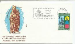 España. 1979. VIII Congreso Mariólogico. XV Mariano Internacional De Zaragoza Y América-España. - FDC