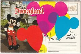 Disneyland : 14 Colorful Scenes (Published By H.S. Crocker Co., Santa Fe Springs) - USA - LEPORELLO - Disneyland